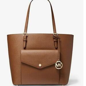 Large leather tote by Michael Kors